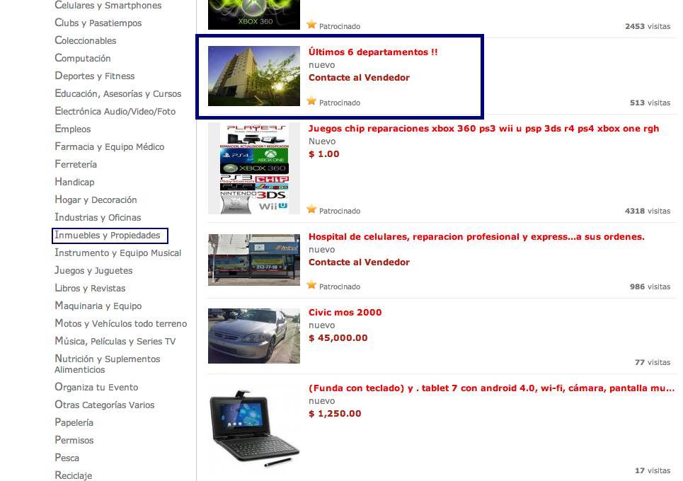 web no especializada