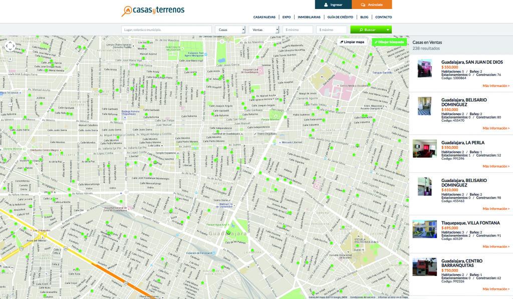 Localiza las propiedades disponibles en tus zonas predilectas
