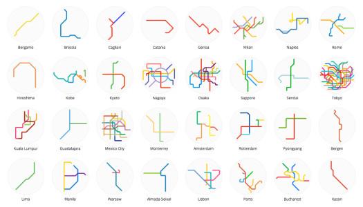 Mini Metro Maps: el transporte colectivo del mundo en tu bolsillo