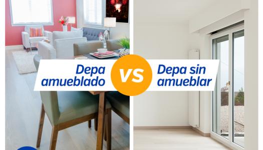 Casa amueblada VS casa sin amueblar, ¿qué es mejor?